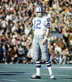 Roger Staubach - master of the 2 minute clock - quarterback of the Dallas Cowboys - married a daughter of coach Tom Landry
