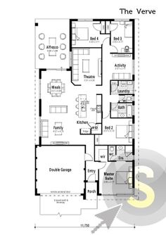The Insight\' floorplan. 12m frontage. 3x2. Alfresco, study at ...
