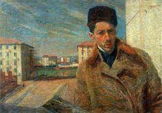 Humberto Boccioni, Autorretrato 1908
