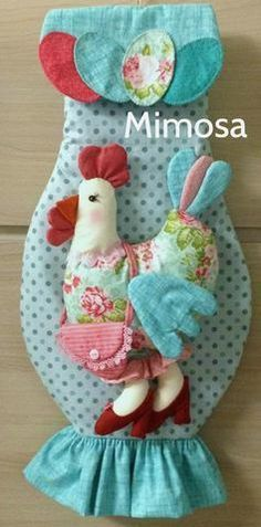 Discover thousands of images about pattern . Fabric Crafts, Sewing Crafts, Sewing Projects, Projects To Try, Sewing Box, Love Sewing, Chicken Crafts, Plastic Bag Holders, Crochet Kitchen