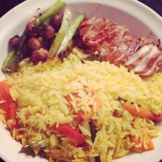 Leftover rice and #superfree with barbecue chicken #slimmingworld #extraeasy #foodoptimising