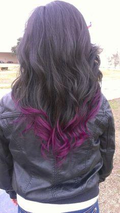 Purple Dip Dye Hair   Dip dye purple hair wavy- this is so happening tomorrow!