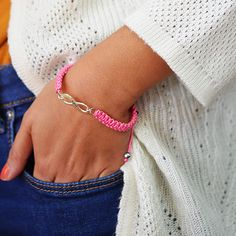 The infinity friendship bracelet is a great gift to give your friends!