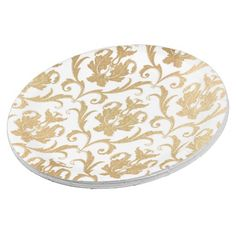 Gold swirls damask paper plate  sc 1 st  Pinterest : damask paper plates - Pezcame.Com