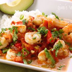 Garlic Shrimp in Coconut Milk, Tomatoes and Cilantro