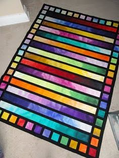 Jelly Roll quilt- beautiful like stained glass