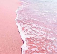 """The post """"Pink, aesthetic, beach, sea, waves and holiday"""" appeared first on Pink Unicorn Pastel Rosa Strand, Pastell Wallpaper, Pink Ocean Wallpaper, Travel Wallpaper, Hd Wallpaper, Rose Pastel, Pastel Art, Pink Beach, Ocean Beach"""