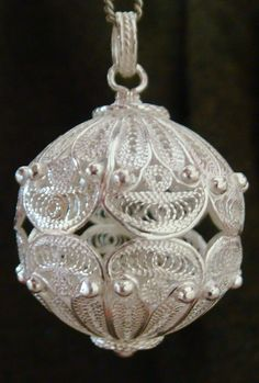 Filigree kugle by Seba Silver December 2012