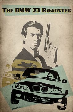 James Bond alternative Goldeneye poster BMW by TheCelluloidAndroid