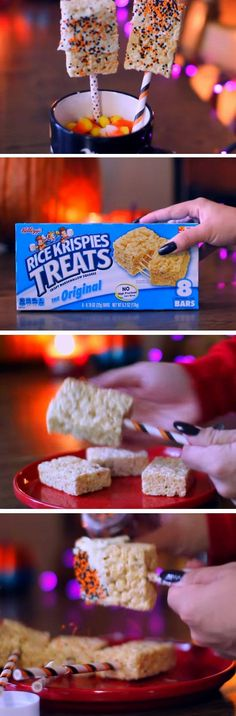 Festive Rice Krispie Treats | 19 DIY Halloween Party Ideas for Teens that are totally spooktacular!