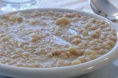 La zuppa d'orzo e cavolfiore