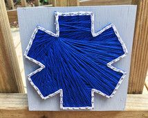 Star of Life Sign - String Art - EMT - Paramedic - Firefighter Wedding - EMS Decor - Groomsmen Gift - Nursery - Girlfriend - Wife - Mom