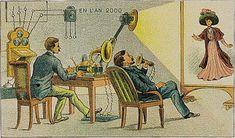 Zukunftsvision - Retrofuturistische Postkarten