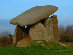 Trethevy Quoit, Neolithic burial chamber consisting of five standing stones, height approx. 9', Trethevy Quoit is at Darite on the edge of Bodmin Moor