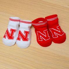 Nebraska Baby 2 Pack Booties with Grippers