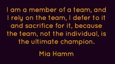 42 Trendy ideas for sport quotes for girls motivation mia hamm Team Quotes, Cheer Quotes, Volleyball Quotes, Teamwork Quotes, Coach Quotes, Sport Quotes, Girl Quotes, Basketball Funny, Basketball Quotes