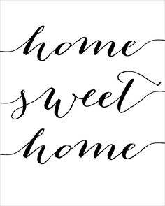 Home Sweet Home Wall Art home sweet home print // instant download typographic print