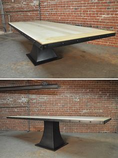 Maple Top Floyd Table by Vintage Industrial Furniture in Phoenix, AZ