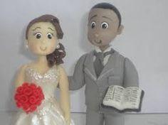 Resultado de imagem para noivos de biscuit evangelico