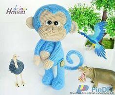 Голубая Обезьянка от Havva. — ХатаБогата