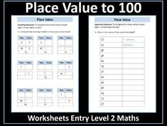 This resource contains two worksheets on place value to It has been designed for students working towards the AQA Entry Level Certificate in Maths who. Certificate Of Achievement, Aqa, End Of Year, Place Values, Entry Level, Student Work, Teaching Resources, Worksheets, Free Printables