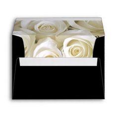 #bride - #Wedding Card Envelope Roses