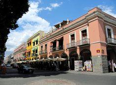 Colourful Buildings at Zocalo, Main Square, Puebla, Mexico