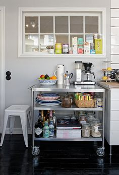 Industrial elements in the kitchen