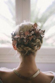 Boho Floral Hair Style