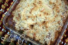 Apple Crisp Recipe\made without oatmeal