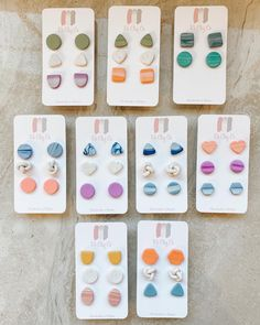Polymer Clay Ring, Handmade Polymer Clay, Clay Projects, Clay Crafts, Diy Clay Earrings, Cute Clay, Polymer Clay Miniatures, Clay Design, Schmuck Design