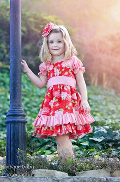 Ruffled Peasant dress Easter dress Spring by charlotteandclaire, $56.00