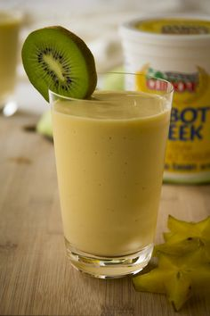 Tropical Paradise Smoothie (1 1/4 cups apricot nectar or orange juice 1 cup Vanilla Greek-Style Yogurt 2 cups frozen mango chunks)