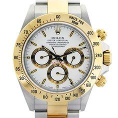 Rolex Daytona Two Tone White Dial Watch