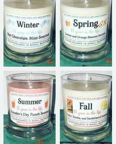 Gilmore Girls Inspired Candles A Year in the LIfe Seasons Aunt Gifts, Sister Gifts, Best Friend Gifts, Gifts For Dad, 30th Birthday Gifts, Birthday Crafts, Birthday Quotes, Gilmore Gilrs, Gilmore Girls Gifts