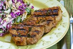 Greek seasoned pork chops with lemon and oregano