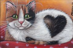 Calico Cat - Valentine Art Painting