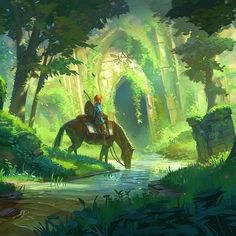 Breath of the Wild is also another #NintendoSwitch game I'm dying to play soon!   Link and the Temple Forest By Jeremy Fenske  #Zelda #BreathoftheWild #Nintendo #Switch #Gaming #GameArt #ConceptArt #Art #FanArt #Illustration #Fantasy #RPG #Medieval #Link #Retro