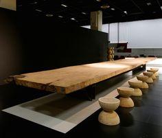Mesa de jantar de madeira de Kauri KAURI By Riva 1920 design Mario Botta
