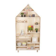Vakkenkast houten huis - 150x76x20 cm | Xenos