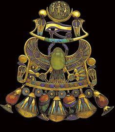 Tutankhamoun jewelry - a brooch? Whatever it is, it's fabulous