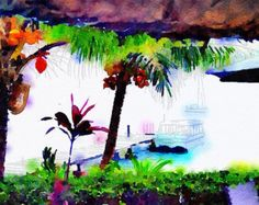 Tropical Island PalmTree Print - New Wall Art
