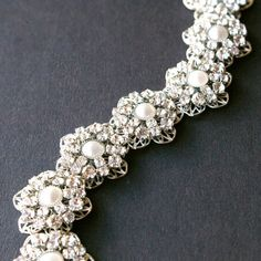 Vintage Wedding Bridal Cuff Bracelet Crystal by luxedeluxe on Etsy, $148.00