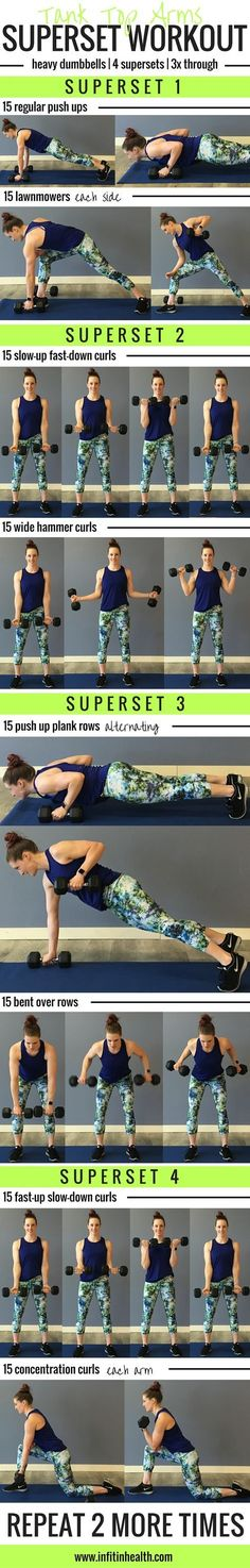 Tank Top Arms Superset Workout