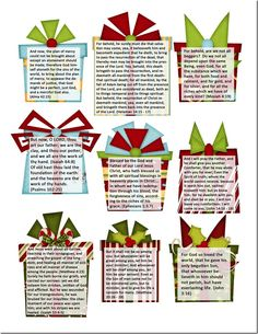 Super cute free printables! 25 scriptures that can be used as an advent calendar.