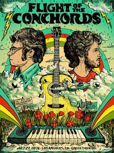 Flight of the Conchords - Posters   Zeb Love - Pittsburgh Artist & Illustrator