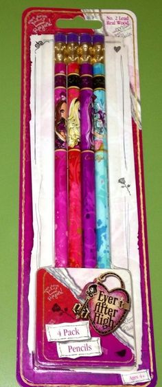 Ever After  High Pencils NEW Great For Back To School Supplies