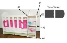 I have had a few questions on how I made the doll crib changing table here. I am sorry it has taken me ages to put up the instructions. I didn't take pictures of it but I will try to explain how I ...