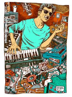 Charly Garcia, de Maximiliano Lopez Barrios, 2015 Music Wall, Dj Music, Music Stuff, Rock Music, Rock Roll, Rock Indie, Estilo Rock, Rock Posters, Cultura Pop