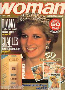 PRINCESS DIANA UK WOMAN MAGAZINE 50 ANNIVERSARY SPECIAL DIANA CHARLES NEWS